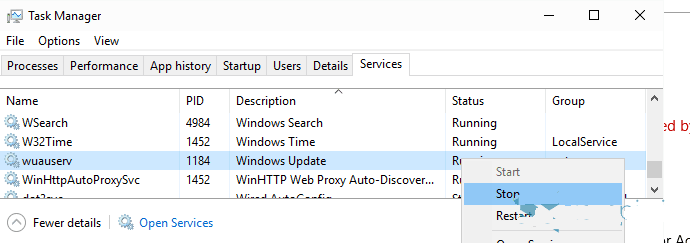 how to pause the Windows 10 update