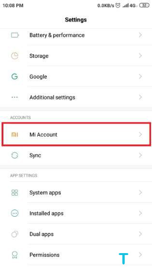 How to Delete a Mi Account 1
