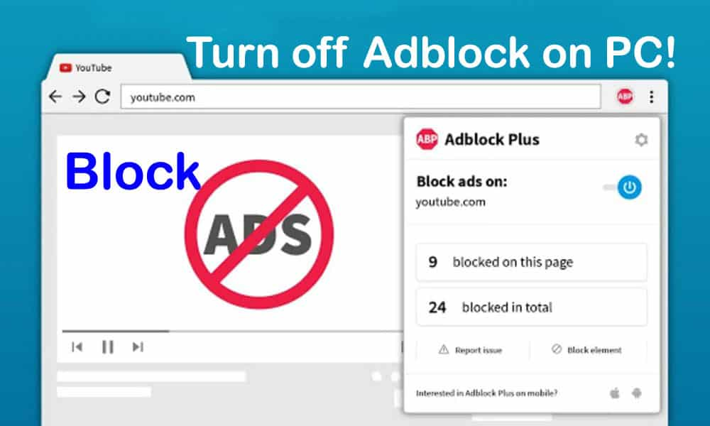 How to Easily Turn off Adblock on PC!