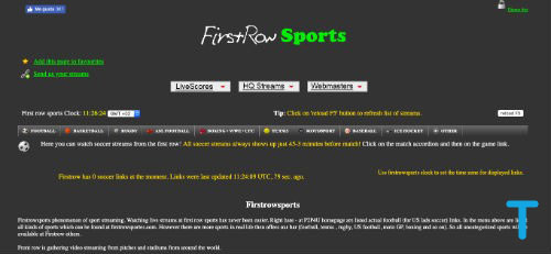 First Row Sports is a VIPLeague alternatives