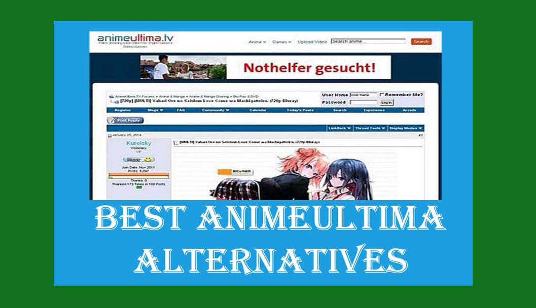 Top 20+ Best Animeultima Alternatives [2019]